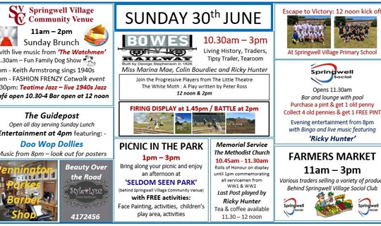 Sunday 30th June EVENT DETAILS